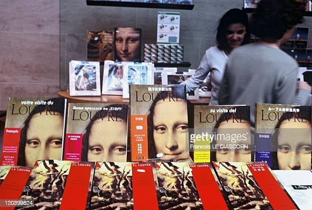 The Mona Lisa Louvre Museum Shop in Paris France in October 2001 One of the Louvre Museum shops books about the Louvre Museum