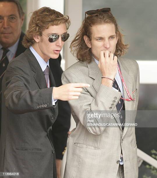 The Monaco family at Formula One Grand Prix of Monaco in Monaco City Monaco on May 28 2006Pierre and Andrea Casiraghi