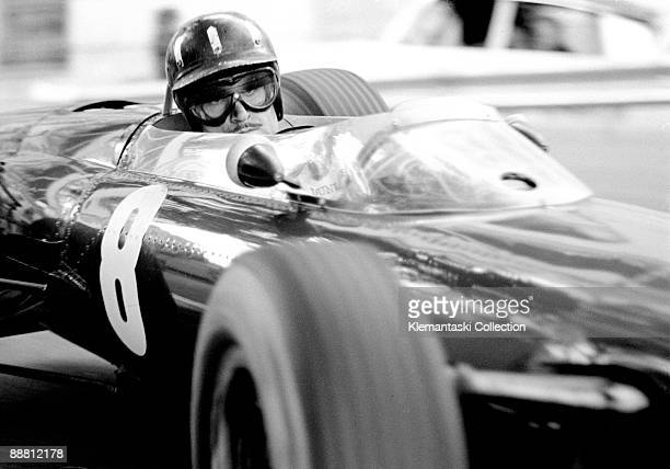 The Monaco Grand Prix Monte Carlo May 10 1964 Graham Hill in the BRM 61/2 at the Chicane Calmness with total concentration An absoutely superb...
