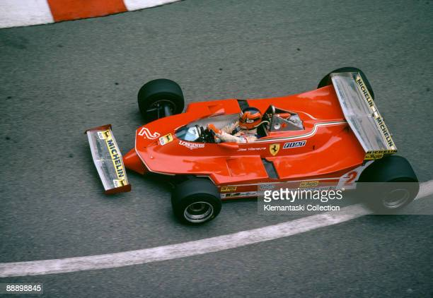 The Monaco Grand Prix Monte Carlo May 18 1980 Gilles Villeneuve turning into Mirabeau in the Ferrari 312T/5 He finished fifth