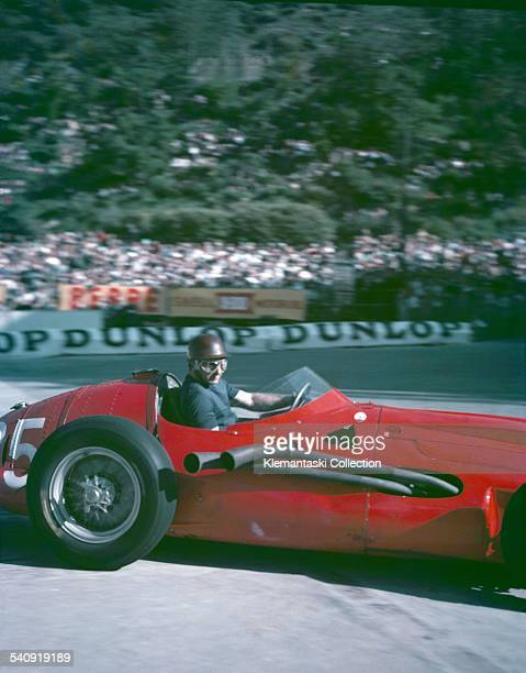 The Monaco Grand Prix Monte Carlo May 19 1957 During practice Juan Manuel Fangio tried the V12engined Maserati 250F but decided to stay with the...