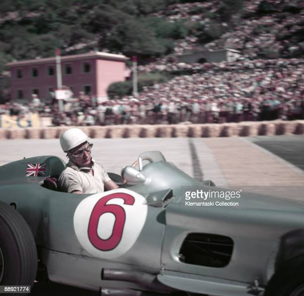 The Monaco Grand Prix Monte Carlo May 22 1955 Stirling Moss rounds the Gasworks Hairpin with his Mercedes W196 It was not a good day for Mercedes as...