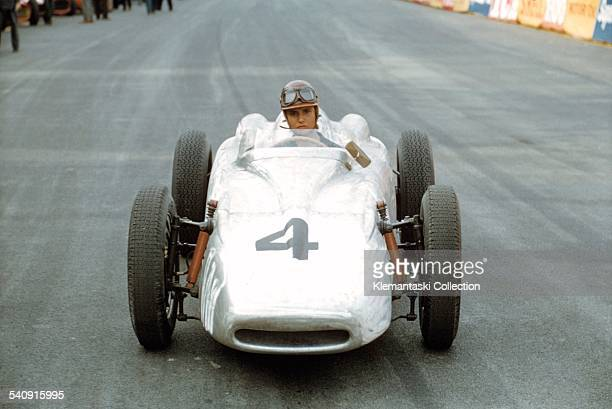 The Monaco Grand Prix Monte Carol May 10 1959 One of the few lady Grand Prix drivers MarieTherese de Filippis sits in the special F2 Porsche built in...