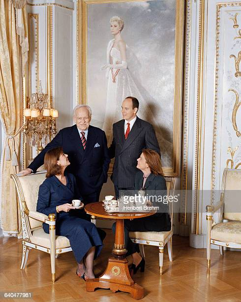 HSH Princess Caroline HSH Prince Rainier HSH Prince Albert and Princess Stephanie in their Palace Preapproval required for all uses from...