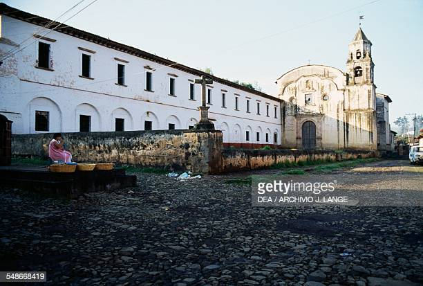 The monastery and the church of the Jesuits in Patzcuaro Michoacan Mexico