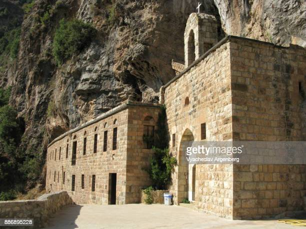 the monastery of deir mar elisha, qadisha valley - argenberg stock pictures, royalty-free photos & images