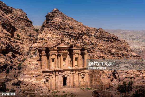 The monastery of Petra, one of seven wonders of the world, Jordan