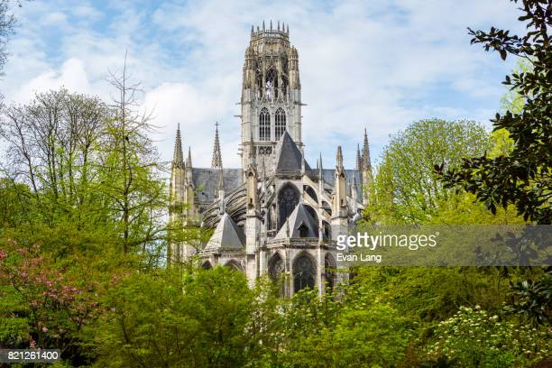 the monastery of saint-ouen - rouen stock pictures, royalty-free photos & images