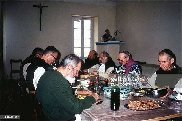 The monastery of Tibhirine 7 years after the assassination of monks In Algeria In March 2003Summer 1992 Four years before the tragedy Lunch time...