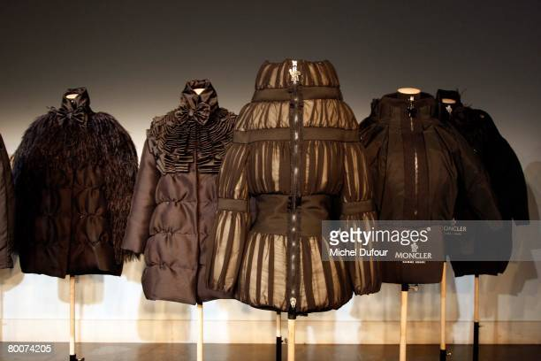 The Moncler Fashion show, gamme Rouge, designed by Giambattita Valli, during Paris Fashion Week Fall-Winter 2008-2009 at Musee Bourdelle on February...