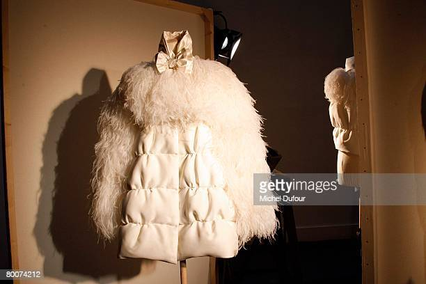 The Moncler Fashion show gamme Rouge designed by Giambattita Valli during Paris Fashion Week FallWinter 20082009 at Musee Bourdelle on February 29...