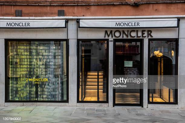 The Moncler Store in Venice Italy on March 21 2020 close to SMark Square All the major high fashion brand stores in Venice around SMark square are...