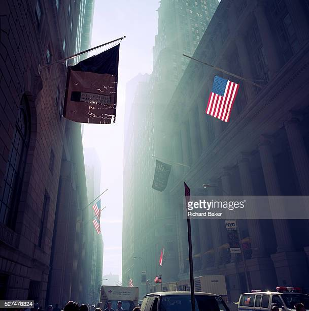 The Monday morning following the attacks on the World Trade Center on Septmber 11th we see a dust-filled haze on Wall Street to where city financiers...