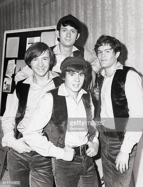 The Monkees a TVcreated prepackaged American response to the popularity of the Beatles were Michael Nesmith Micky Dolenz Davy Jones and Peter Tork