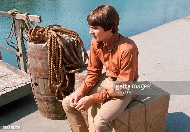 The Monkees' Davy Jones relaxes between takes in the filming of the band's show