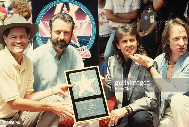 The Monkees Mickey Dolenz Michael Nesmith Davy Jones and Peter Tork receive their star on the Hollywood Walk of Fame