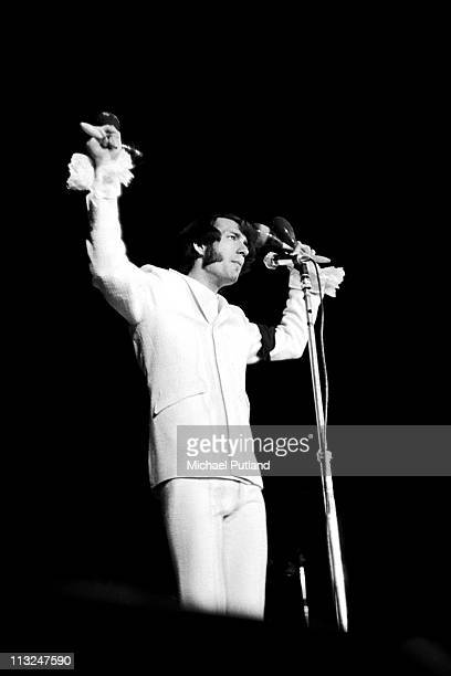The Monkees perform on stage at Wembley Empire Pool London July 1967 Mike Nesmith