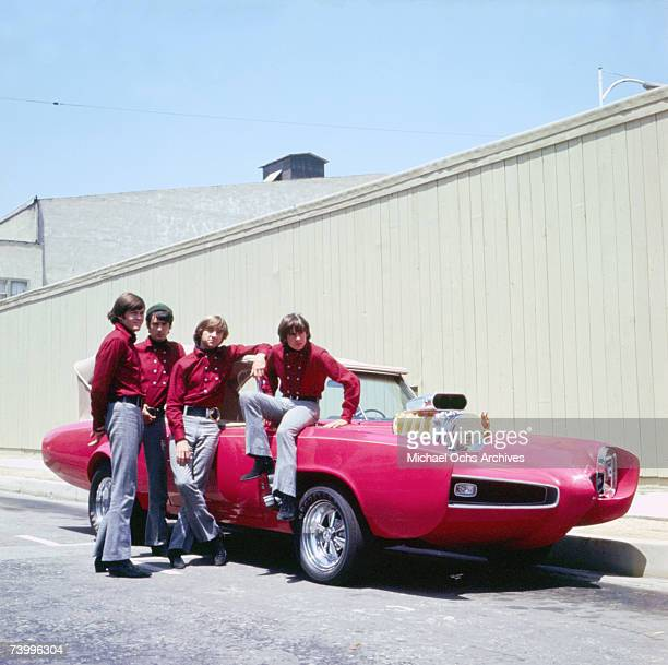The Monkees pose for a portrait at the Sunset Gower Studios in 1966 in Los Angeles California