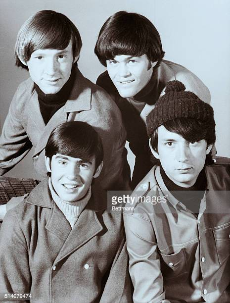 The Monkees singing group Top Peter Tork and Mickey Dolenz Bottom David Jones and Mike Nesmith 1966