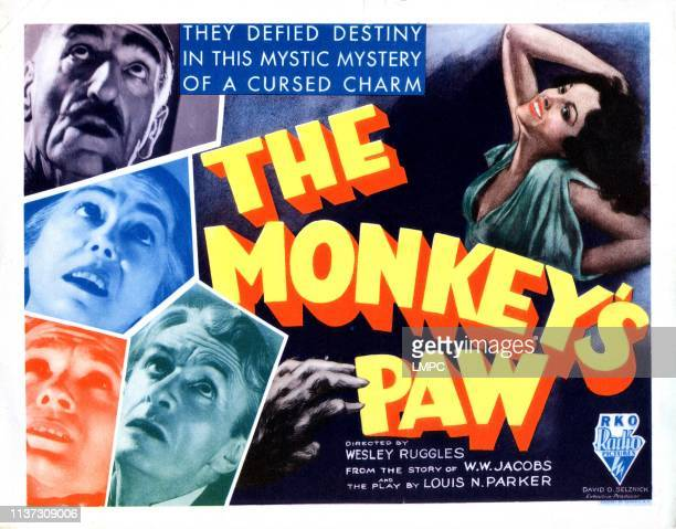 The Monkey's Paw poster left from top C Aubrey Smith Louise Carter Bramwell Fletcher Ivan F Simpson Nina Quartero 1933