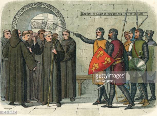 The monks of Christchurch expelled' 1864 Fulk de Cantelupe and Henry de Cornhill sheriff of Kent are sent by King John to expel the monks from...