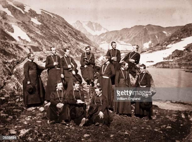 The monks of St Bernard in the Swiss alps