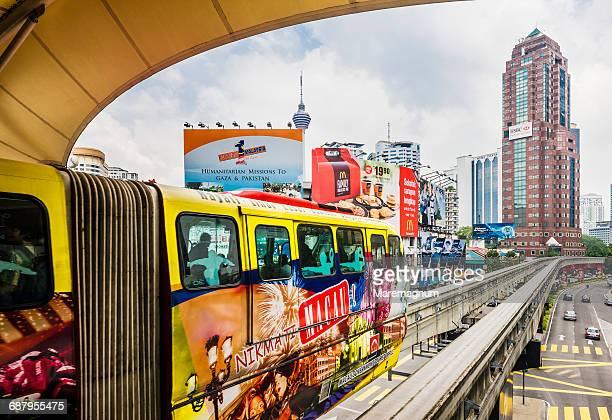The monorail near Bukit Bintang Monorail Station