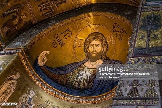 MONREALE ITALY - October 13, 2009: The Monreale Cathedral built in mix of different styles