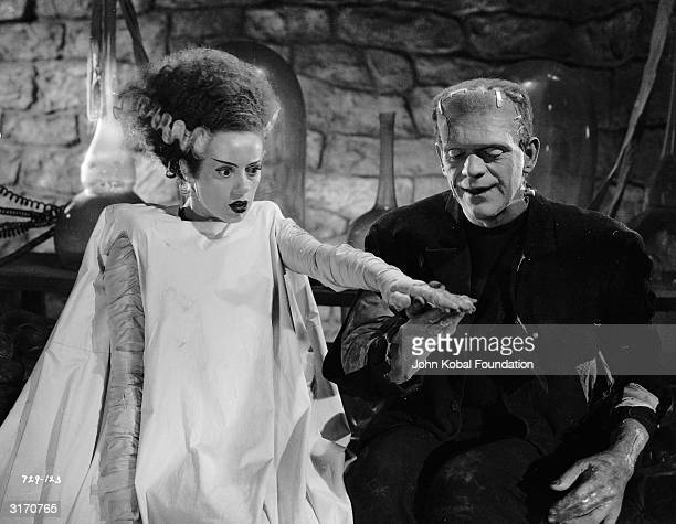 The monster played by Boris Karloff believes he has found his true mate in 'Bride of Frankenstein' directed by James Whale The wouldbe bride is...