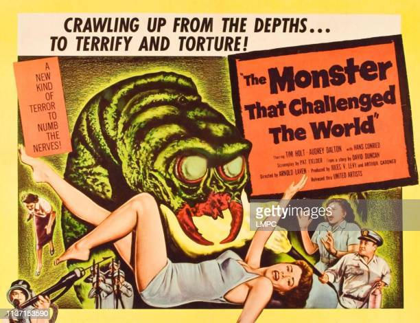 The Monster That Challenged The World poster Audrey Dalton Tim Holt 1958