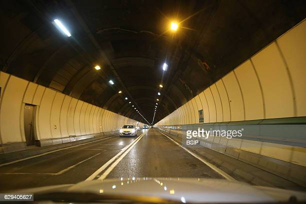 The Mont Blanc Tunnel runs through the highest mountain in the Alps connecting Courmayeur Italy and ChamonixMontBlanc France
