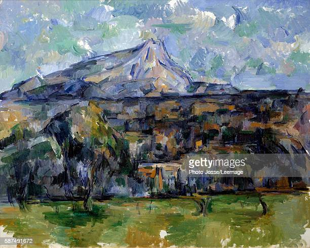 The Mont Sainte Victoire Painting by Paul Cezanne 1902 NelsonAtkins Museum of Art Kansas City
