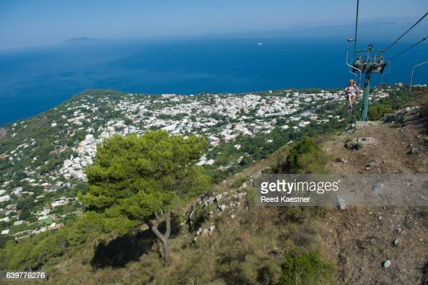 The Monte Solaro chair lift takes riders to the highest point of Capri, Italy