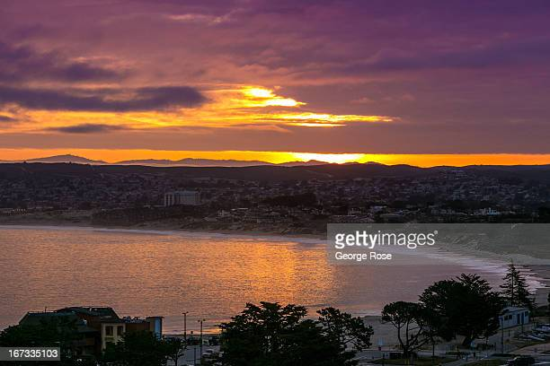 The Monterey Bay is viewed at sunrise on April 6 in Monterey California Some 136 million international travelers visit the State each year generating...