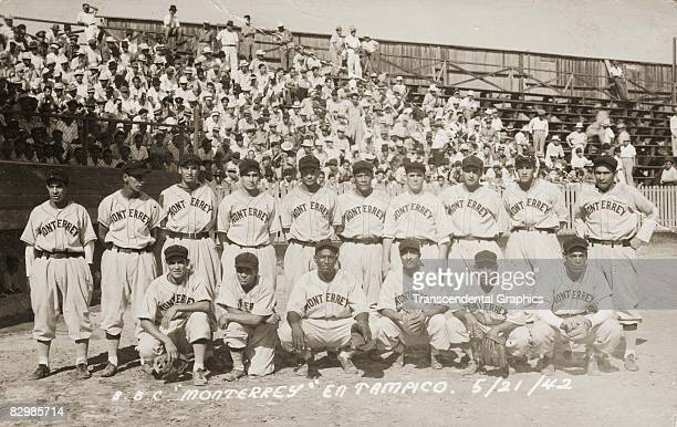 The Monterrey Mexico BBC is photographed in Tampico before a Mexican League game in 1942