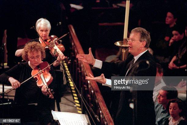 The Monteverdi Choir and the English Baroque Soloists performing in 'The Bach Cantata Pilgrimage' at St Bartholomew's Church on December 25 2000This...