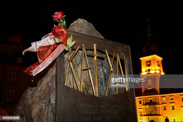 The monument built for the victims of the Katyn massacre in Russia in which some 20 thousand Polish officers and Polish intelligentsia where murdere...