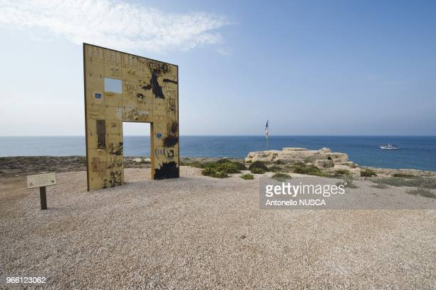 The monument erected in memory of the wouldbe immigrants who have died at sea while trying to reach Europe The monument by Italian artist Mimmo...