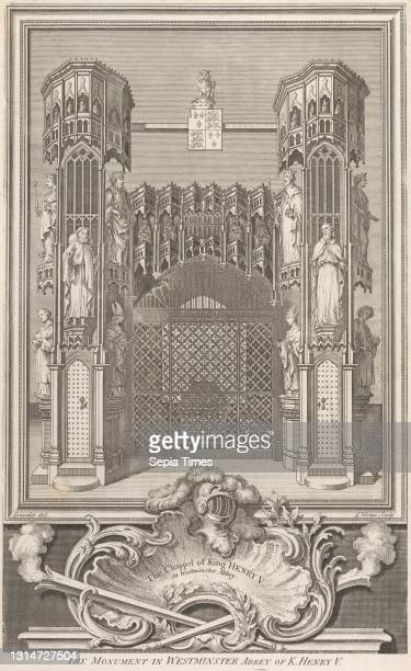 The Monument in Westminster Abbey of King Henry V, George Vertue, 1684–1756, British, after Hubert-Francois Gravelot, 1699–1773, French, active in...