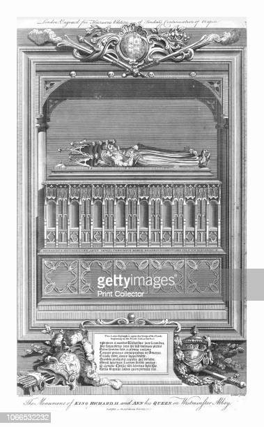 The Monument of King Richard II and Ann his Queen in Westminster Abbey' mid 18th century Tomb of King Richard II and Anne of Bohemia at Westminster...