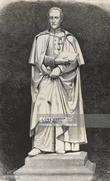 The monument to Abbot Antonio Rosmini Serbati a philosopher of Catholic liberalism The statue by Vincenzo Consani was raised in his hometown here in...