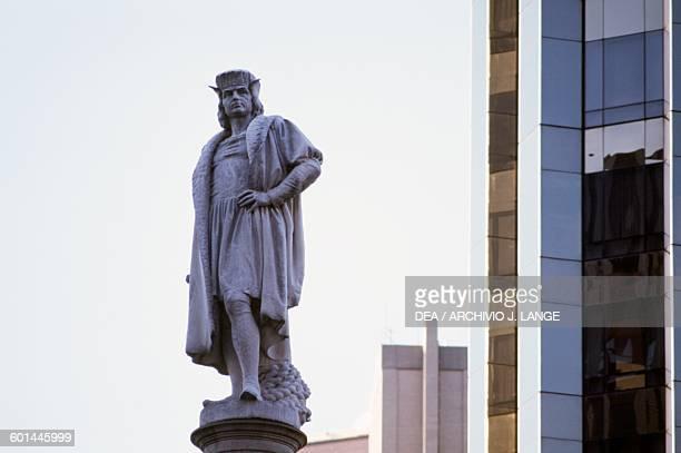 The monument to Christopher Columbus Columbus Circle Manhattan New York United States of America