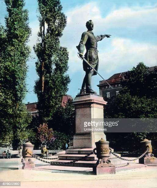 The monument to King Carl XII of Sweden in Stockholm