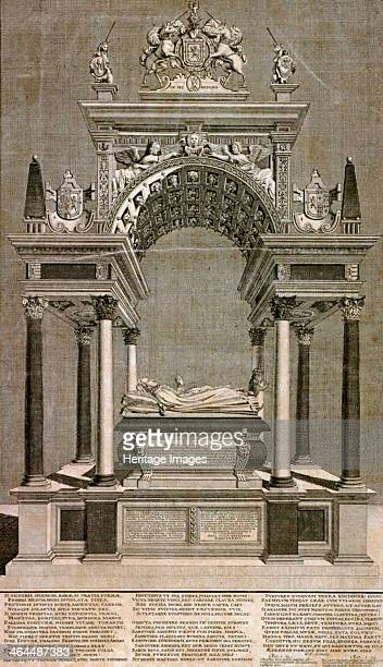 The monument to Mary, Queen of Scots in Westminster Abbey, London, 1742.