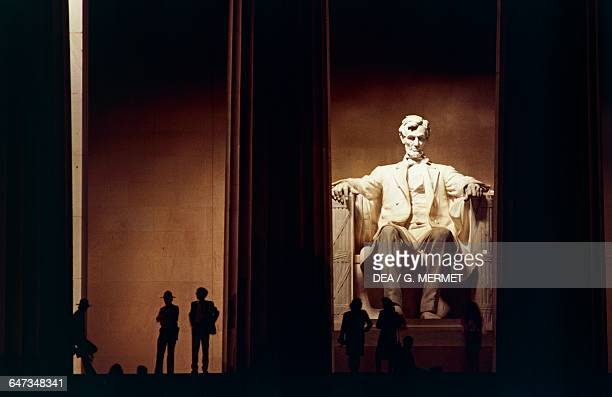 The monument to President Abraham Lincoln at night Lincoln Memorial Washington DC District of Columbia United States of America 20th century
