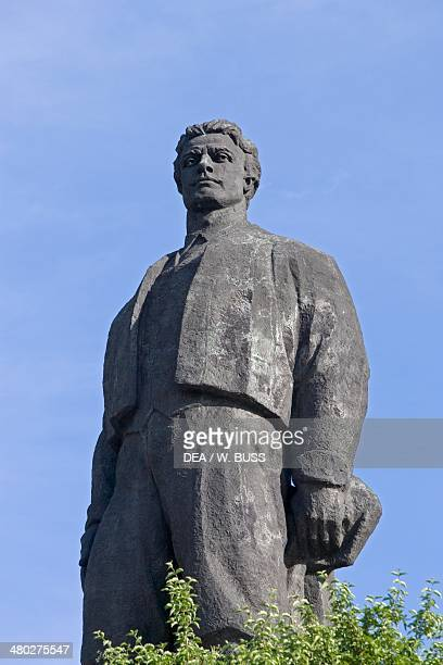 The monument to Vasil Levski Bulgarian national hero a revolutionary who fought for the countrys liberation from the Ottomans Lovech Bulgaria