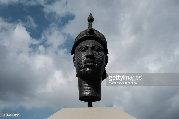 The monument to Zumbi dos Palmares the AfroBrazilian resistance leader of the Quilombo dos Palmares slaves uprising killed in battle on this day in...
