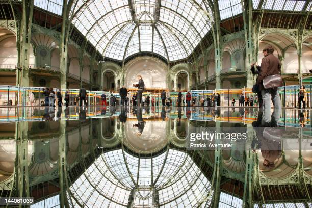 The ''Monumenta'' temporary installation by Daniel Buren is displayed at the Nave of the Grand Palais on May 9 2012 in Paris France Every year the...