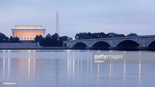 The Monuments of Washington DC at Dawn