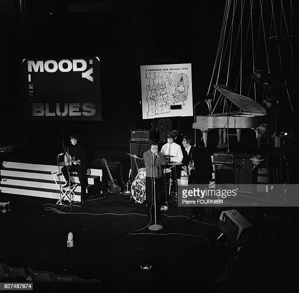 The Moody Blues perform at the Music Hall de France in IssylesMoulineaux near Paris